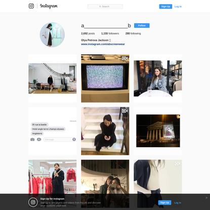 Olya Petrova Jackson (@a_______________b) * Instagram photos and videos
