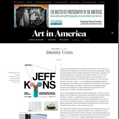 Identity Crisis - Art in America