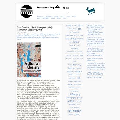 Rosi Braidotti, Maria Hlavajova (eds.): Posthuman Glossary (2018) — Monoskop Log