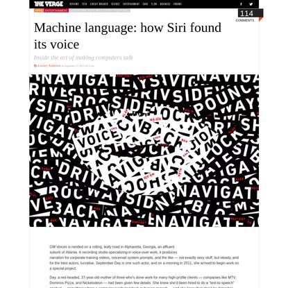 Machine language: how Siri found its voice