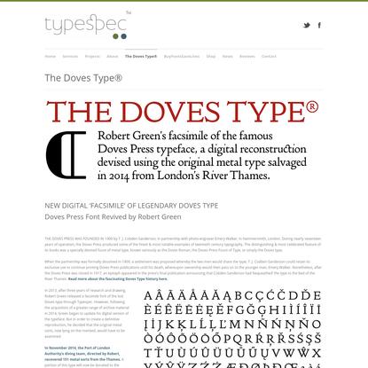 The Doves Type | Doves Press Font | typespec.co.uk