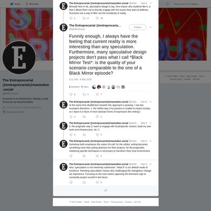 The Entreprecariat @entreprecariat@mastodon.social on Twitter