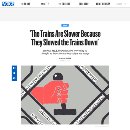 'The Trains Are Slower Because They Slowed the Trains Down'