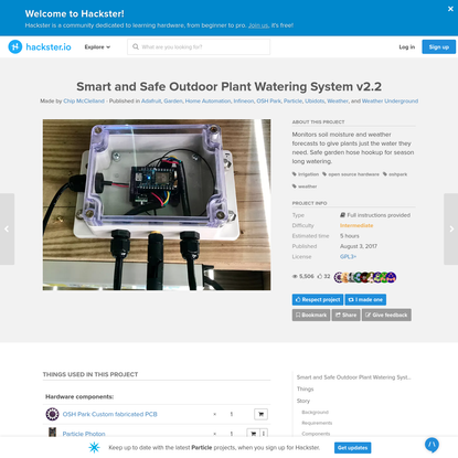 Smart and Safe Outdoor Plant Watering System v2.2