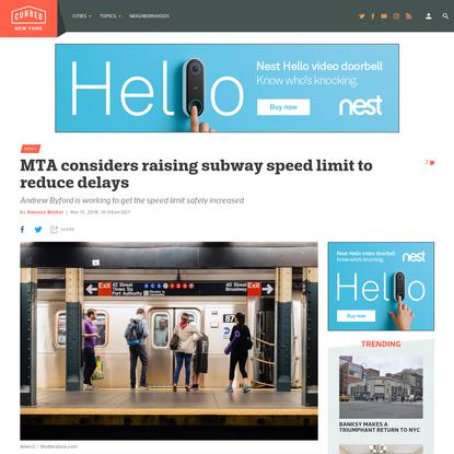 MTA considers raising subway speed limit to reduce delays