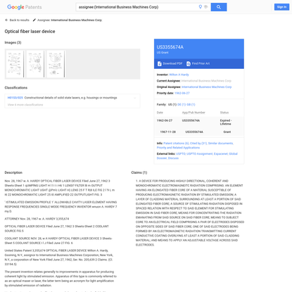 US3355674A - Optical fiber laser device - Google Patents