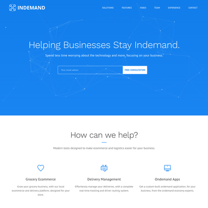 Indemand — Ecommerce / On-demand Delivery Management