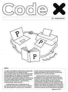 PrePostPrint, Code X