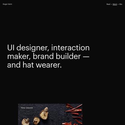 Hugo Vann -- Art Direction + Design