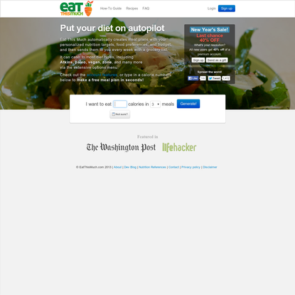 The automatic meal planner - Eat This Much