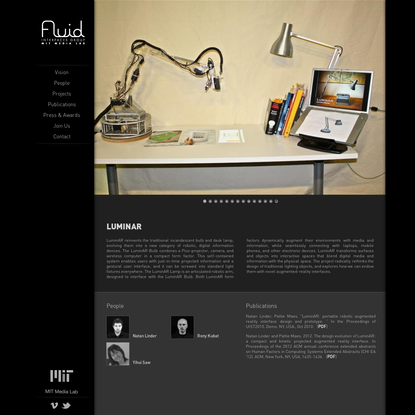 LuminAR | Fluid Interfaces