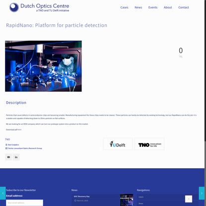 RapidNano: Platform for particle detection