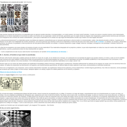 M.C. Escher: El cruce maravilloso del arte con el hechizo de la matemática