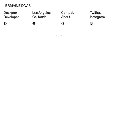 Jermaine Davis - Designer + Developer