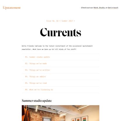 Currents | Upstatement - Upstatement