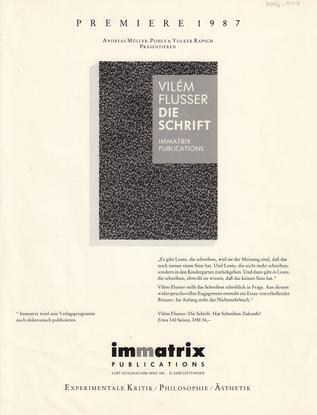immatrix Verlagsvorschau / advert (PDF)