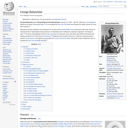 George Balanchine - Wikipedia