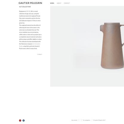 Silt collection - GAUTIER PELEGRIN