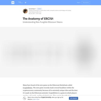 The Anatomy of ERC721 - Crypto Currently - Medium