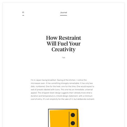 How Restraint Will Fuel Your Creativity - Pierrick Calvez