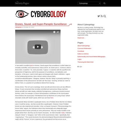 Drones, Sound, and Super-Panoptic Surveillance