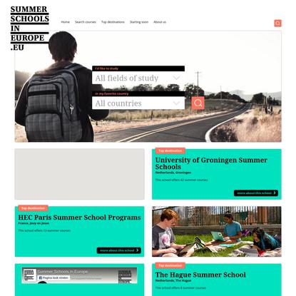 Home - Summer Schools in Europe