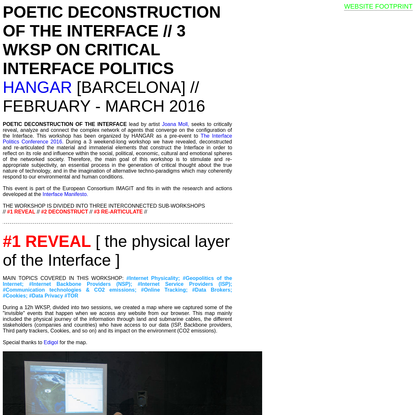 POETIC DECONSTRUCTION OF THE INTERFACE