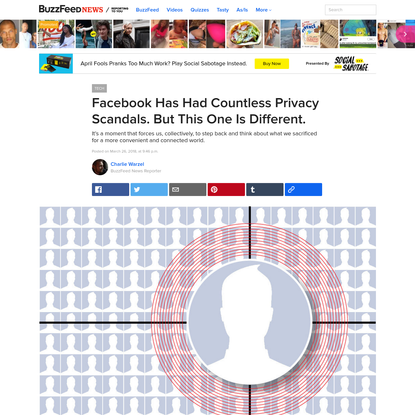 Facebook Has Had Countless Privacy Scandals. But This One Is Different.