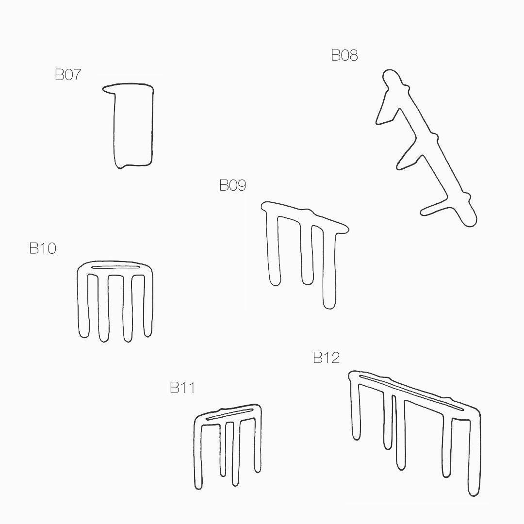 Stools Bone 07 to 12 #drawing #minimal #bone #furniture #stool #bench #designermaker #woodworker #design #interiordesign #mtl #montreal #newcollection