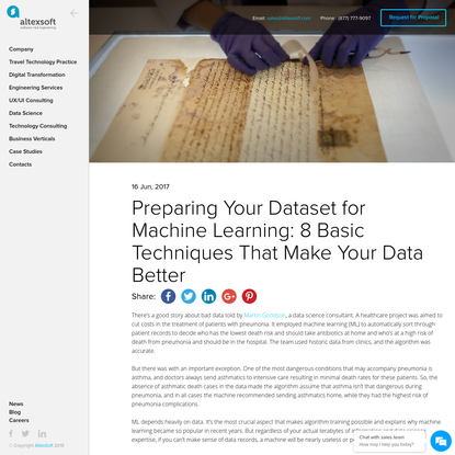 Preparing Your Dataset for Machine Learning: 8 Basic Techniques That Make Your Data Better
