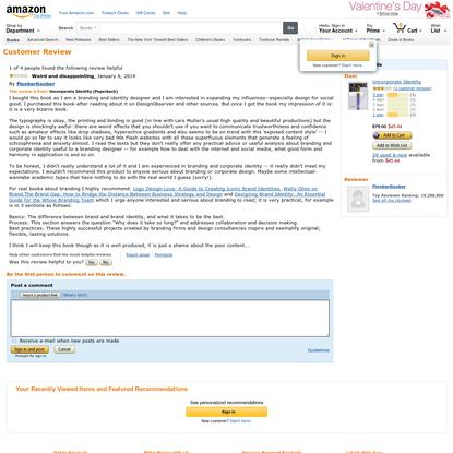 Amazon.com: FlooberGoober's review of Uncorporate Identity