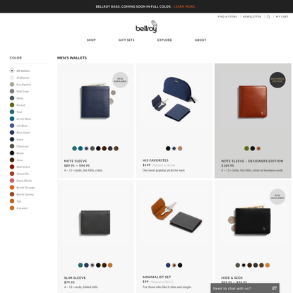 Considered Carry Goods | Bellroy