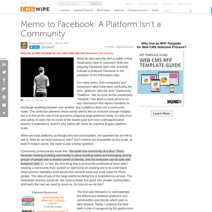Memo to Facebook: A Platform Isn't a Community