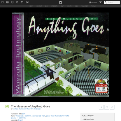The Museum of Anything Goes : Michael Markowski, Maxwell S. Robinson : Free Download & Streaming : Internet Archive