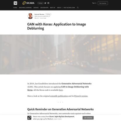 GAN with Keras: Application to Image Deblurring - Sicara | Agile Big Data Development