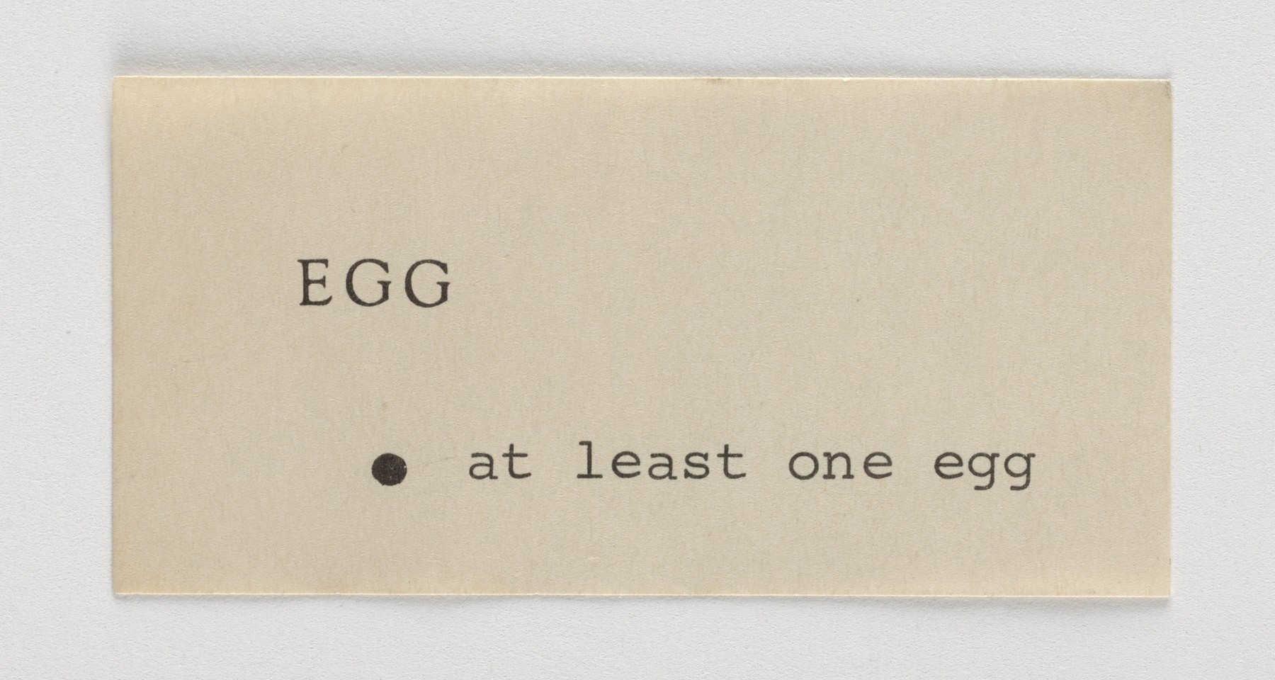 George Brecht, Event Scores (1960–61)