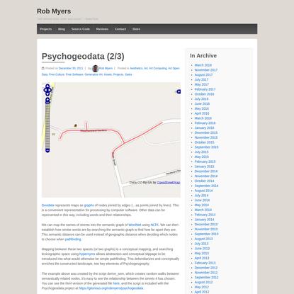 Psychogeodata (2/3)
