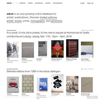 edcat - artists' publication catalogue