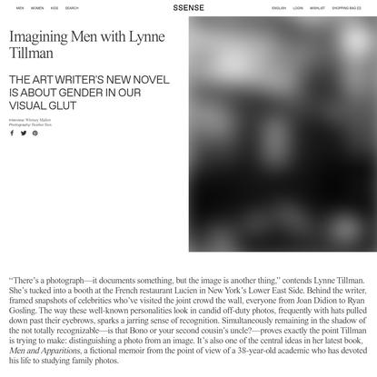 Imagining Men with Lynne Tillman