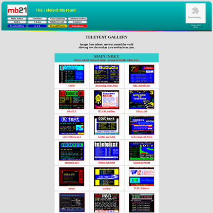 mb21 - The Teletext Museum - Gallery
