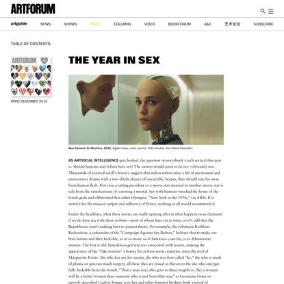 The Year in Sex - Artforum International