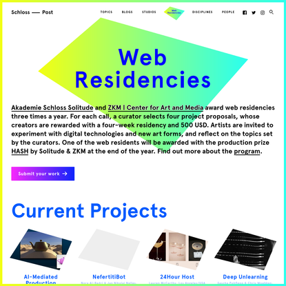Web Residencies - Solitude digital Art | Schloss-Post