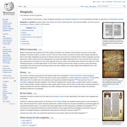 Marginalia - Wikipedia