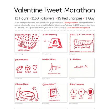 Valentine Tweet Marathon