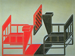 Alexander Rodchenko, Chess table, design drawing, 1925