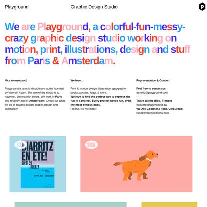 Playground - Graphic Design Studio in Paris