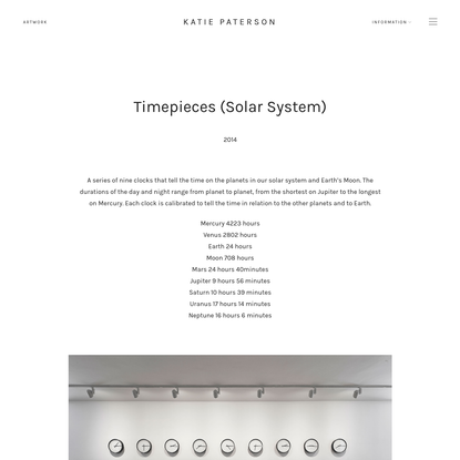 Timepieces - Katie Paterson