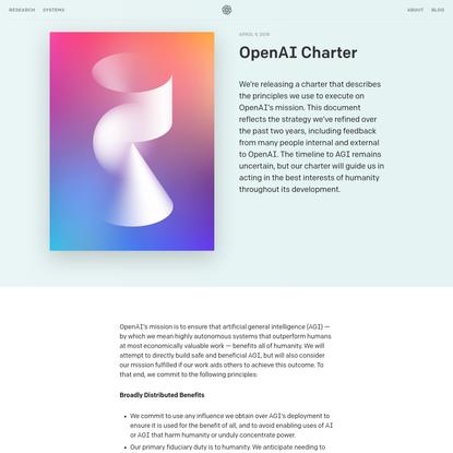OpenAI Charter