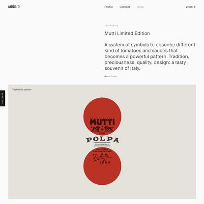 Mutti Limited Edition | Auge Design