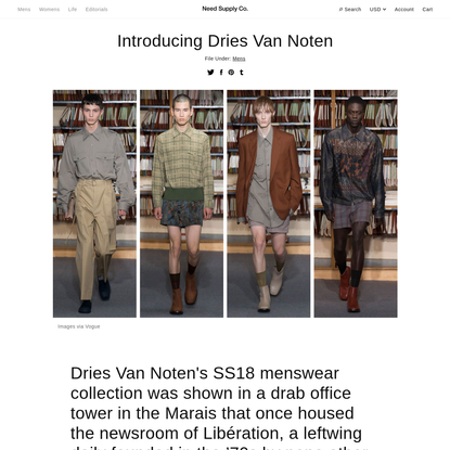 Introducing Dries Van Noten